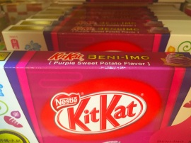 Purple sweet potato kit kats