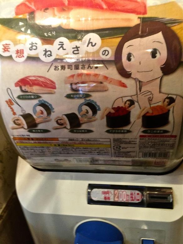 Sushi girl up close